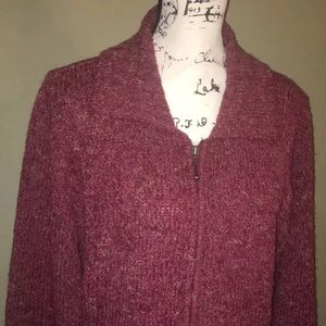 Women's Croft and Barrow Collared ZIP Up Sweater